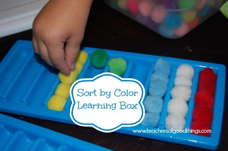 Sort by Color Learning Box www.joyinthehome.com