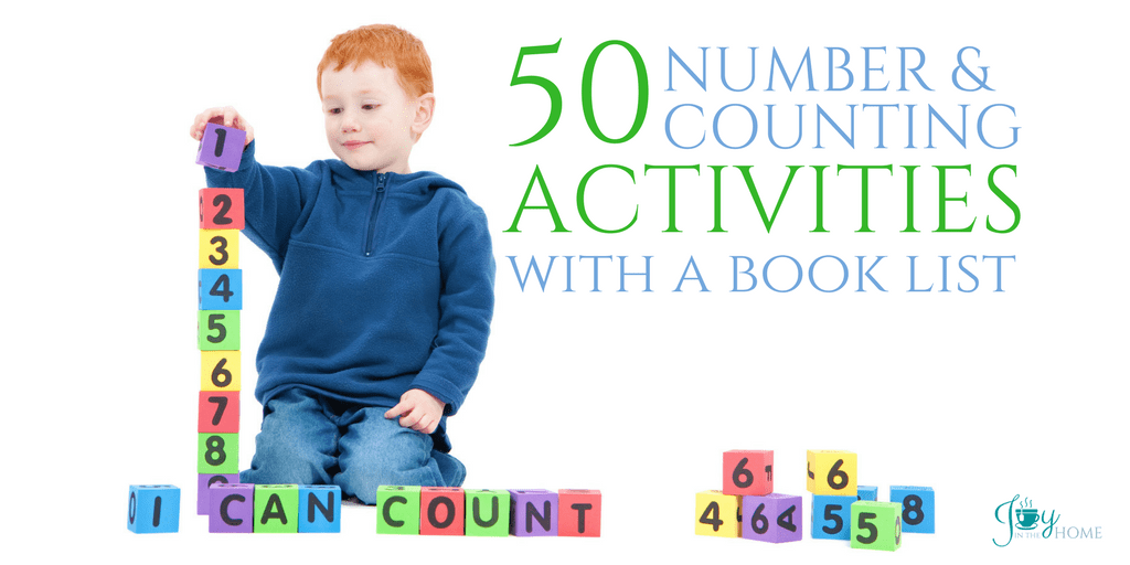 50 Number & Counting Activities with Book List   www.joyinthehome.com