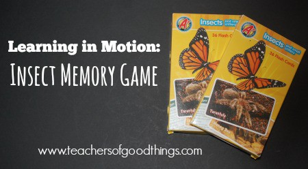 Learning in Motion Insect Memory Game | www.joyinthehome.com