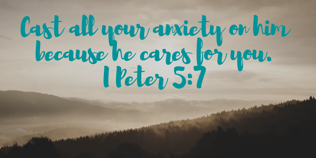 Cast all your anxiety on him because he cares for you. I Peter 5:7   www.joyinthehome.com