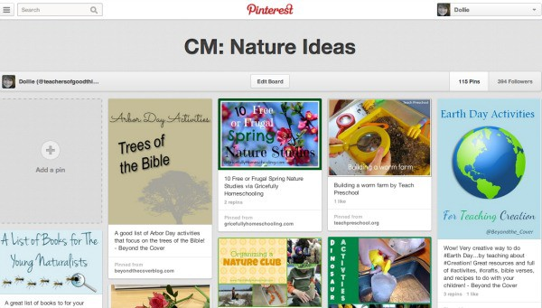 Follow my Nature Pinterest Board