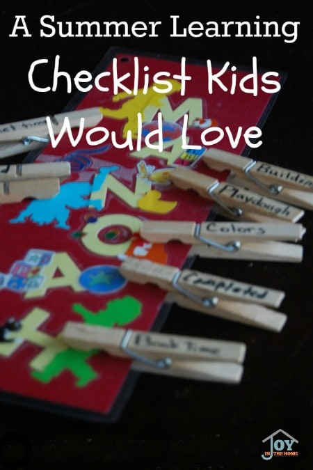 A Summer Learning Checklist Kids Would Love - Turn summer days into learning days that kids would love with this DIY checklist. | www.joyinthehome.com