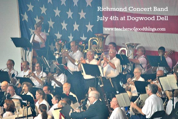 Richmond Concert Band at Dogwood Dell for July 4th