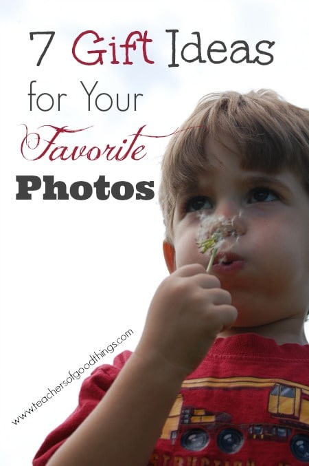 7 Gift Ideas for Your Favorite Photos www.joyinthehome.com