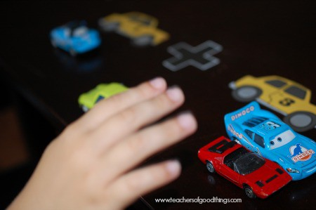 How to Teach Math with Cars - cars are manipulatives www.joyinthehome.com.jpg