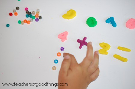Learning Addition with Play Dough two www.joyinthehome.com.jpg