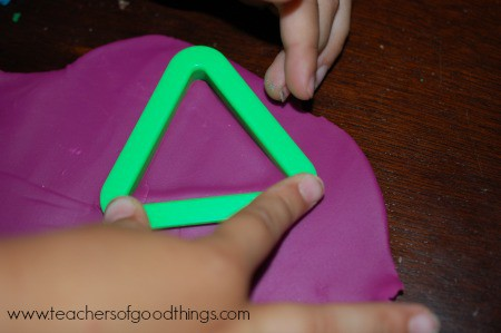 Learning Shapes with Play Dough - triangles www.joyinthehome.com.jpg