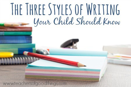 The Three Styles of Writing Your Child Should Know | www.joyinthehome.com