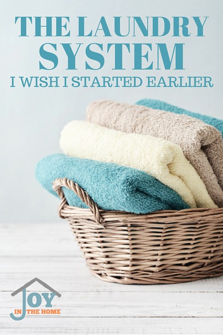 The Laundry System I Wish I Started Earlier - Learn how to make laundry easier with just a few steps.   www.joyinthehome.com