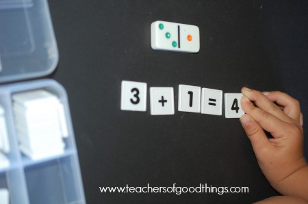 Learning addition with dominoes | www.joyinthehome.com