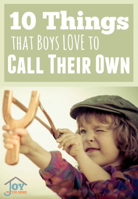 10 Things that Boys Love to Call Their Own | www.joyinthehome.com