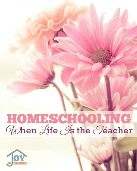 Homeschooling When Life Is the Teacher - Learn how to see life as teachable moments. | www.joyinthehome.com