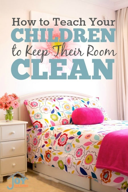 How To Teach Your Children to Keep Their Room Clean - These 5 things can make this difficult task really easy. | www.joyinthehome.com
