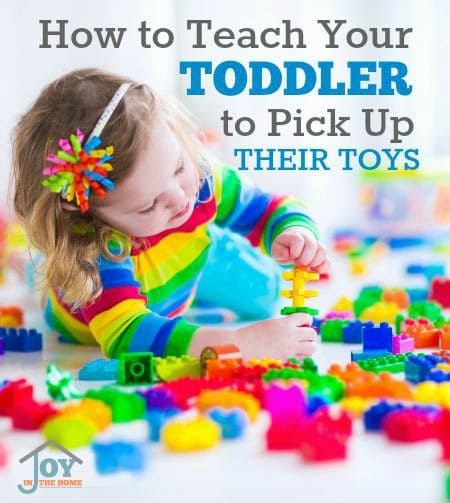 How to Teach Your Toddler To Pick Up Their Toys - These tips would also work with older children. | www.joyinthehome.com
