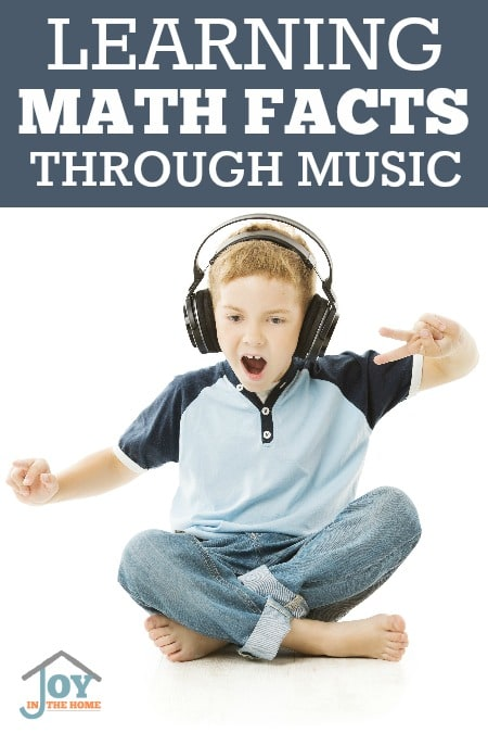 Learning Math Facts Through Music - Music is an amazing tool, so why not use it for learning? | www.joyinthehome.com
