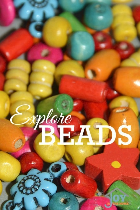 Explore Beads - Part of the 31 Days of Exploring Free Afternoon Activities | www.joyinthehome.com