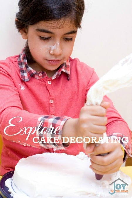 Explore Cake Decorating - Part of the 31 Days of Exploring Free Afternoon Activities | www.joyinthehome.com