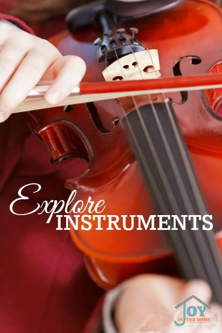 Explore Instruments - Part of the 31 Days of Exploring Free Afternoon Activities   www.joyinthehome.com