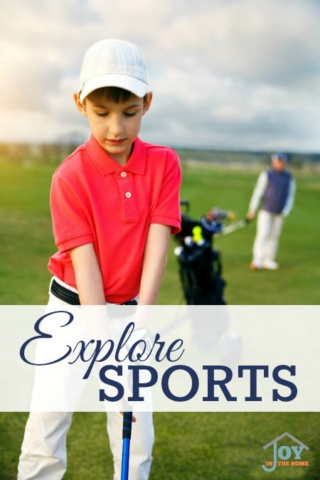Explore Sports - Part of the 31 Days of Exploring Free Afternoon Activities   www.joyinthehome.com