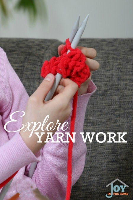 Explore Yarn Work - Part of the 31 Days of Exploring Free Afternoon Activities | www.joyinthehome.com