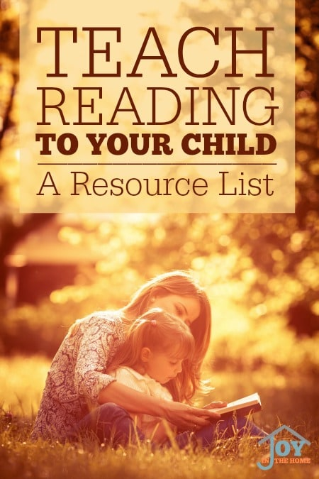 Teach Reading To Your Child